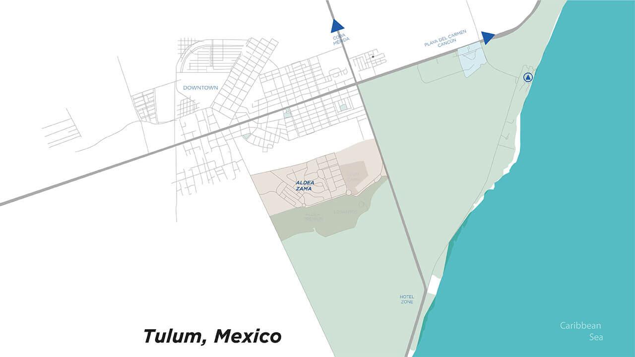 Mapa de Tulum 2020