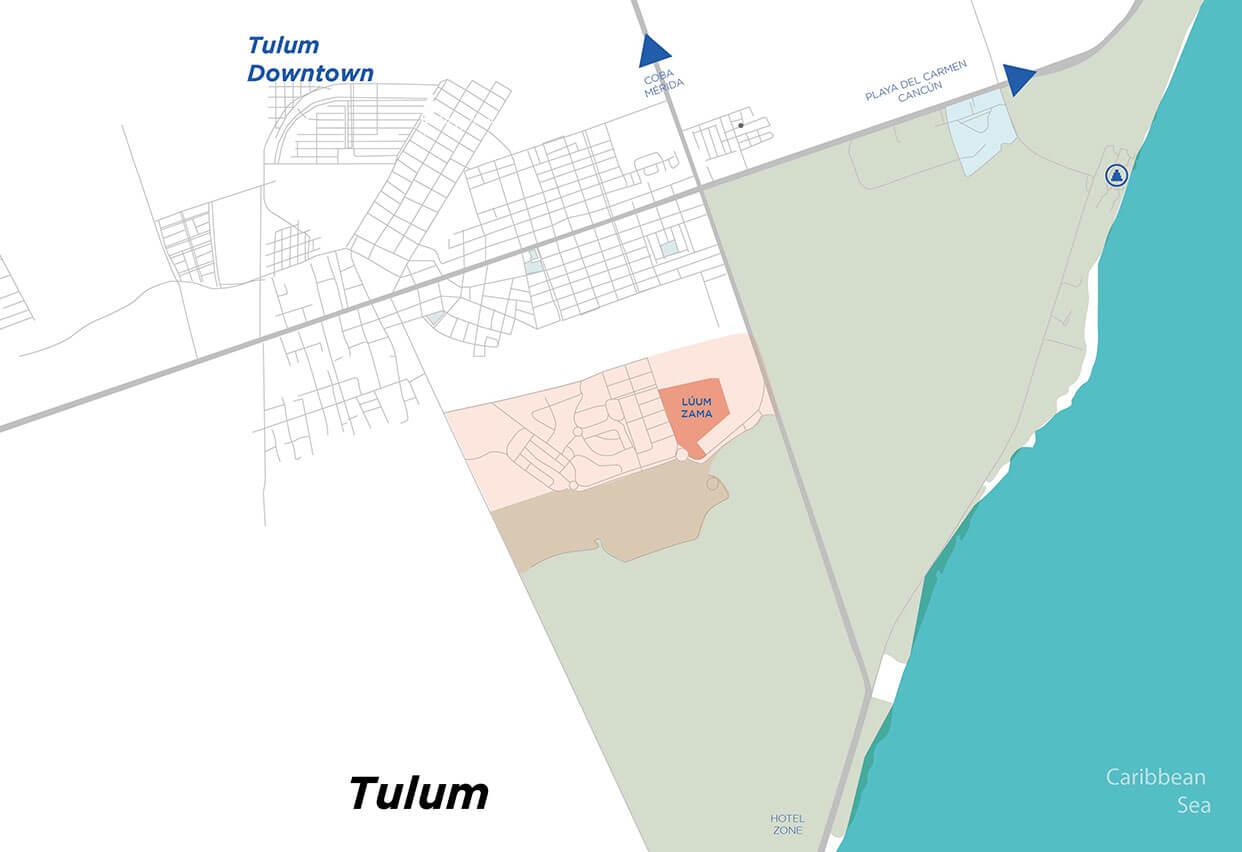 Luum Zama location Tulum